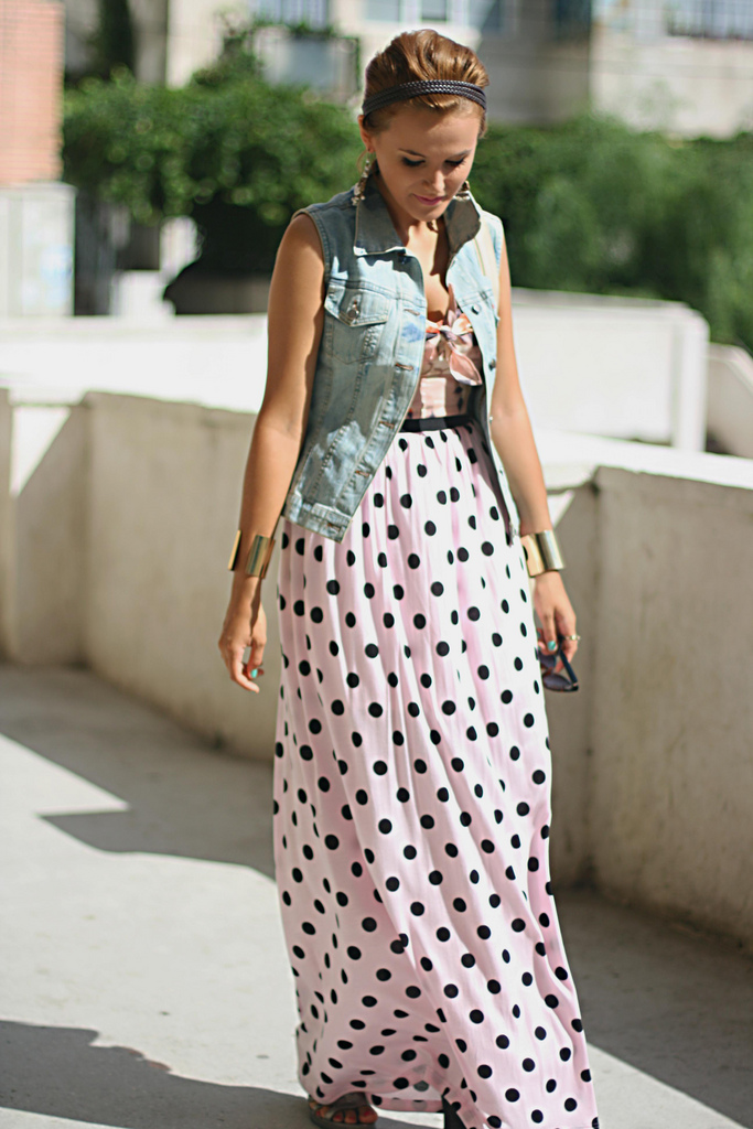 polka dotted skirt thrill of the heel