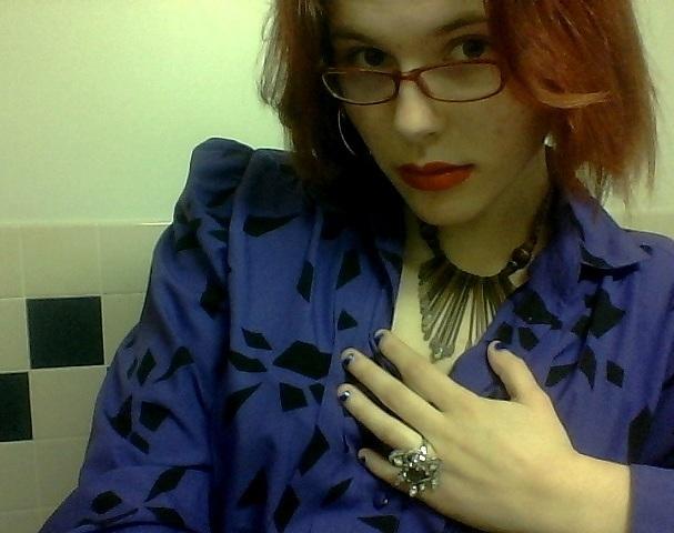 purple blouse III