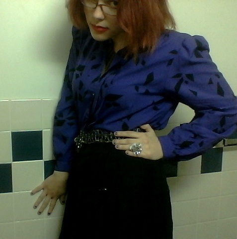 purple blouse VII