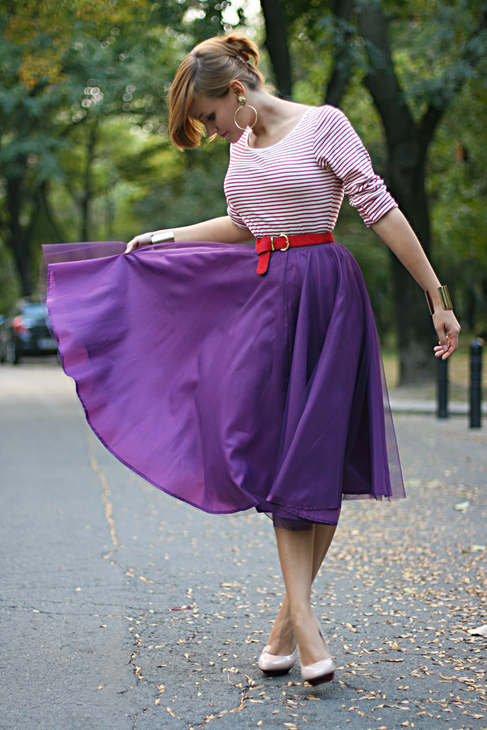 purple midi thrill of the heel