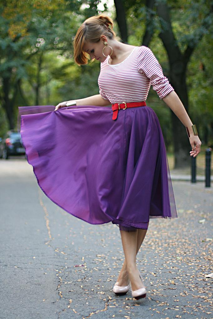 purple midi thrill of the heel