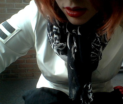 white jacket V
