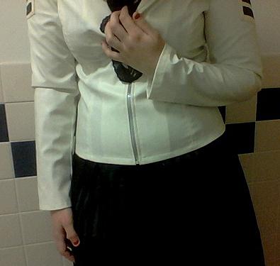 white jacket X
