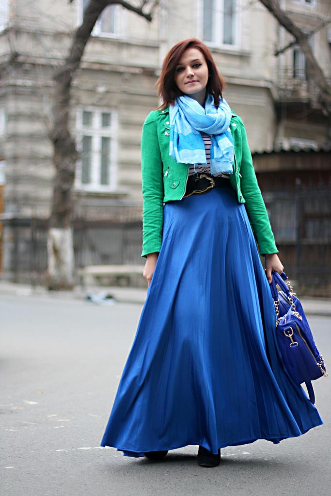blue skirt thrill of the heel