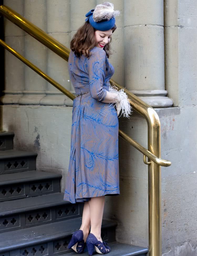 feather dress vixen vintage