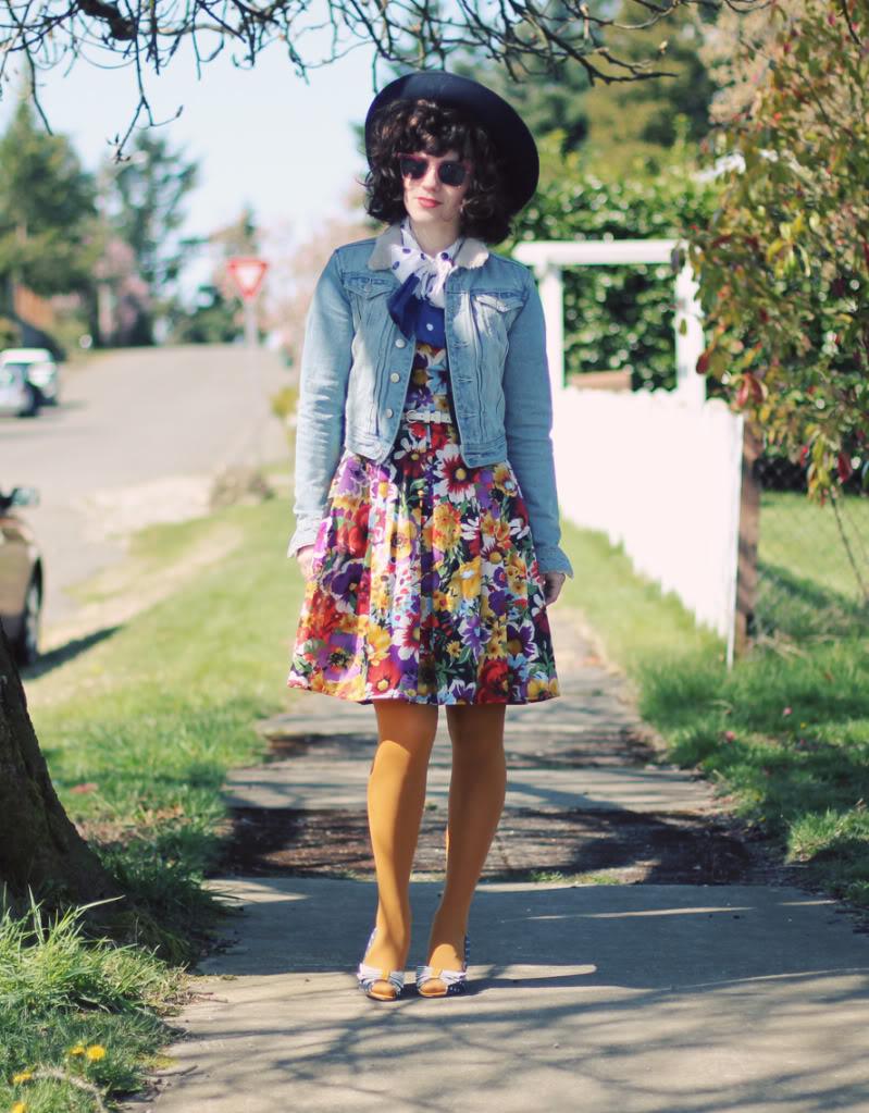 floral dress delightfully tacky