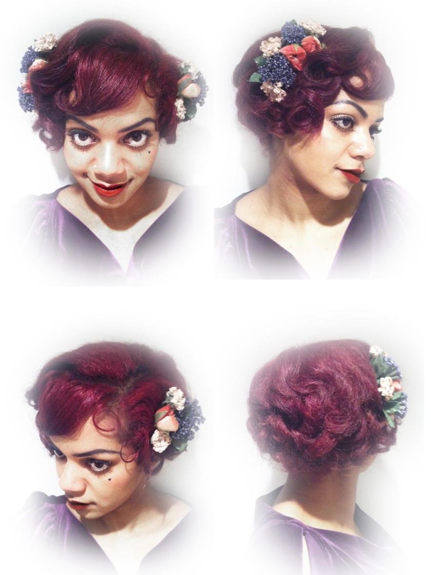 floral hair ruby armoire