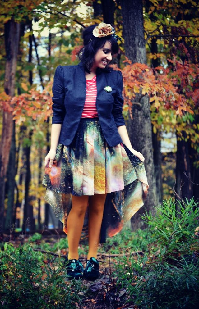 galaxy skirt shades of monet