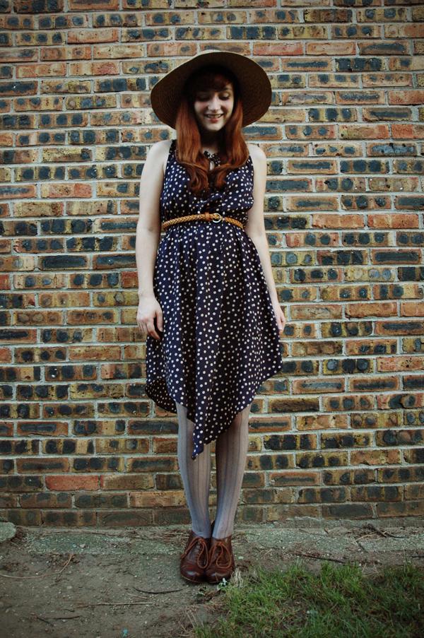 polka-dot dress joyful fox