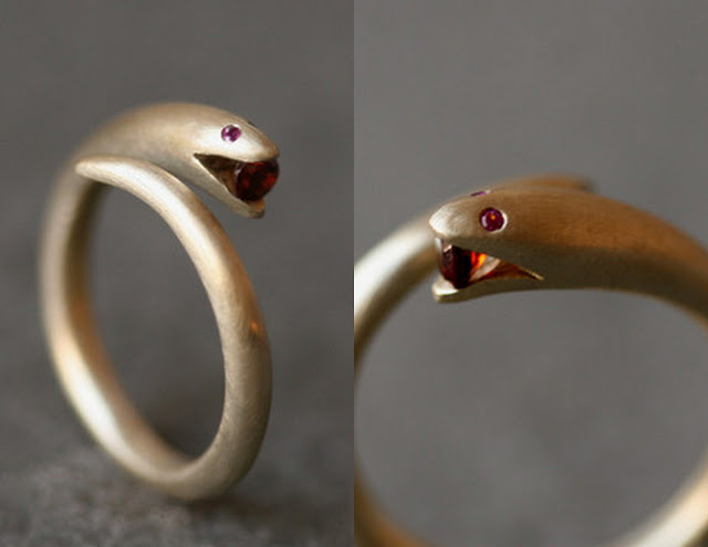 snake ring dainty squid