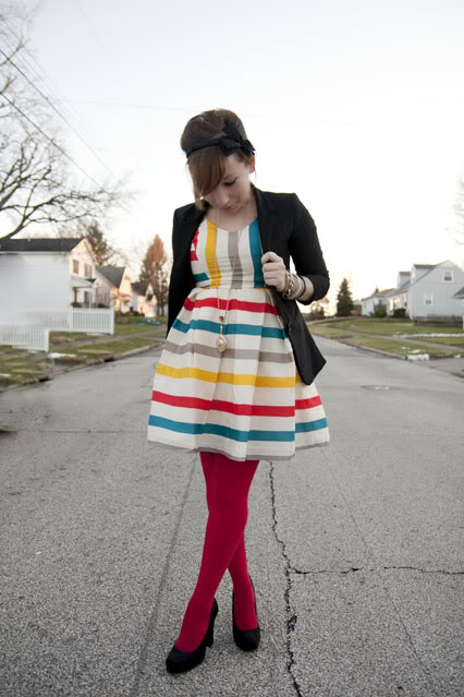 striped dress midwest muse