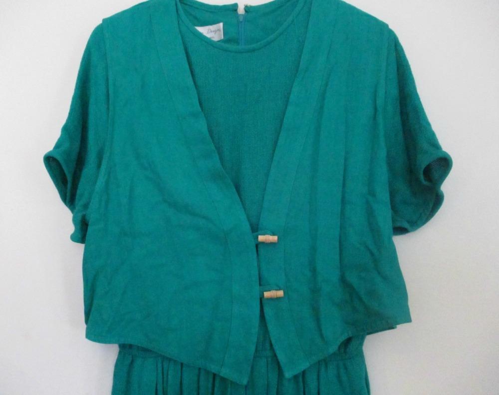 etsy green dress I
