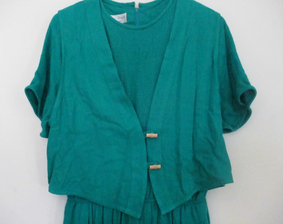 etsy green dress I