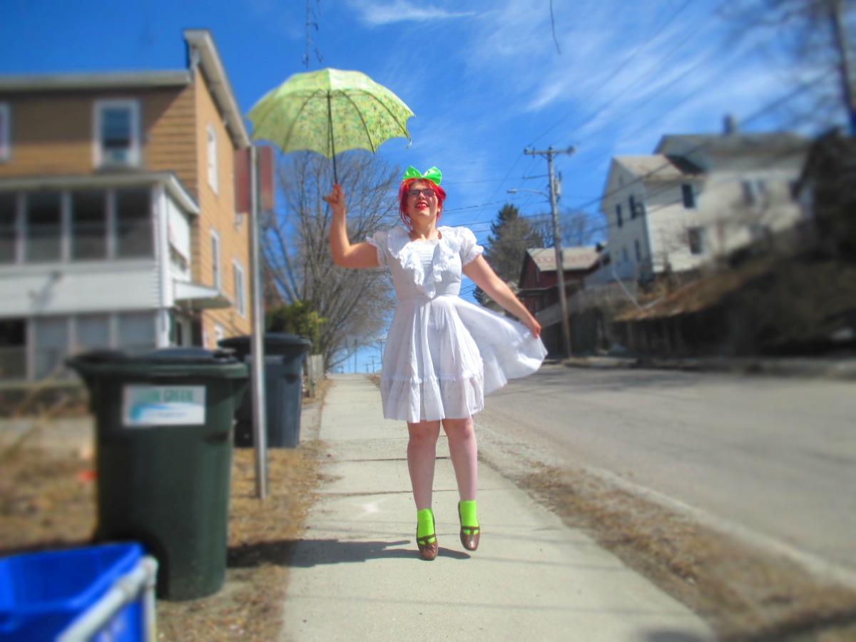 lolita dress & neongreen