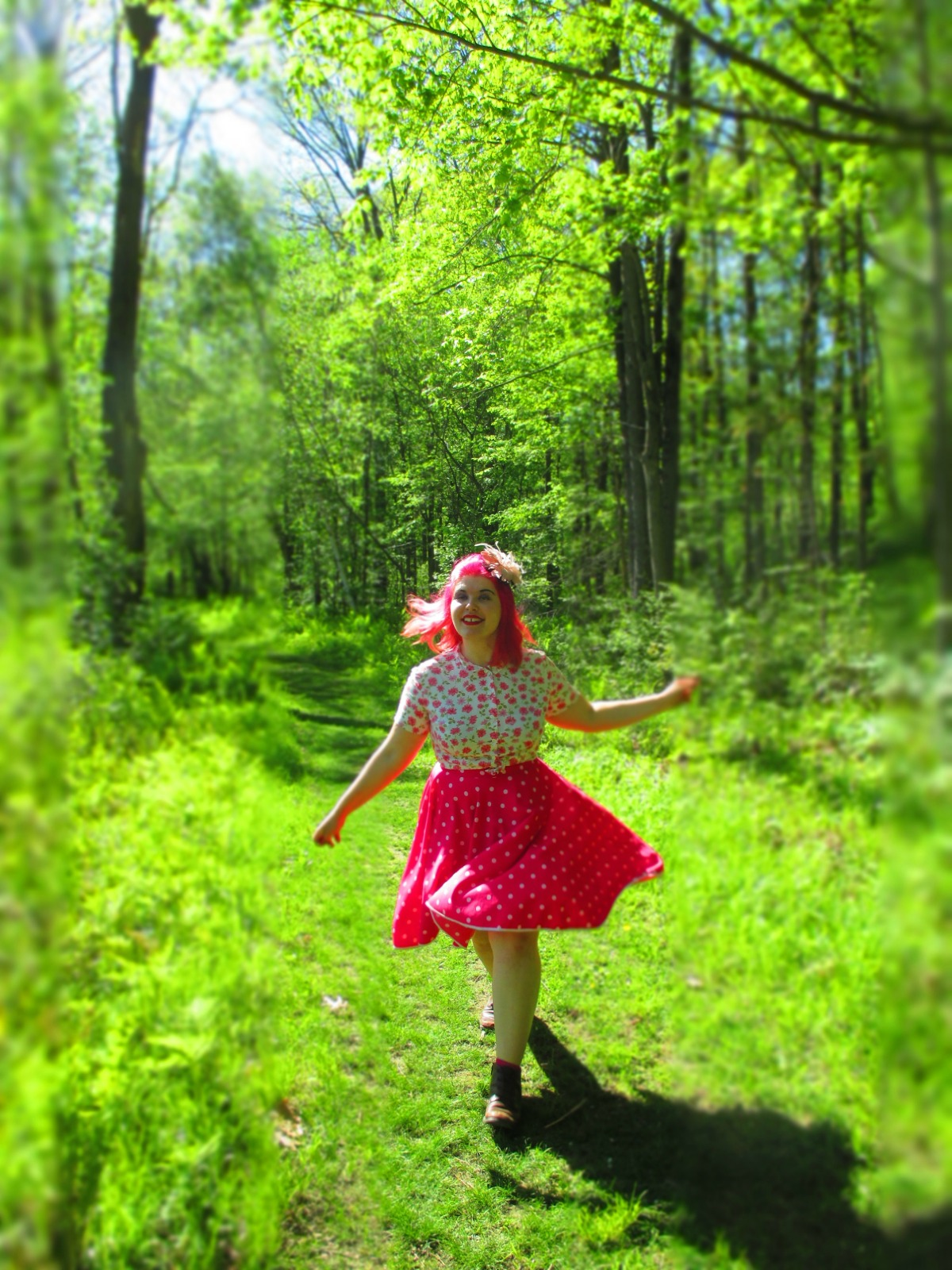 the witch & the sprite, part ii: polka dots & trilliums